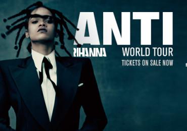 """Ontem (13/03) Rihanna deu início à """"ANTI World Tour"""" em Jacksonville, EUA."""