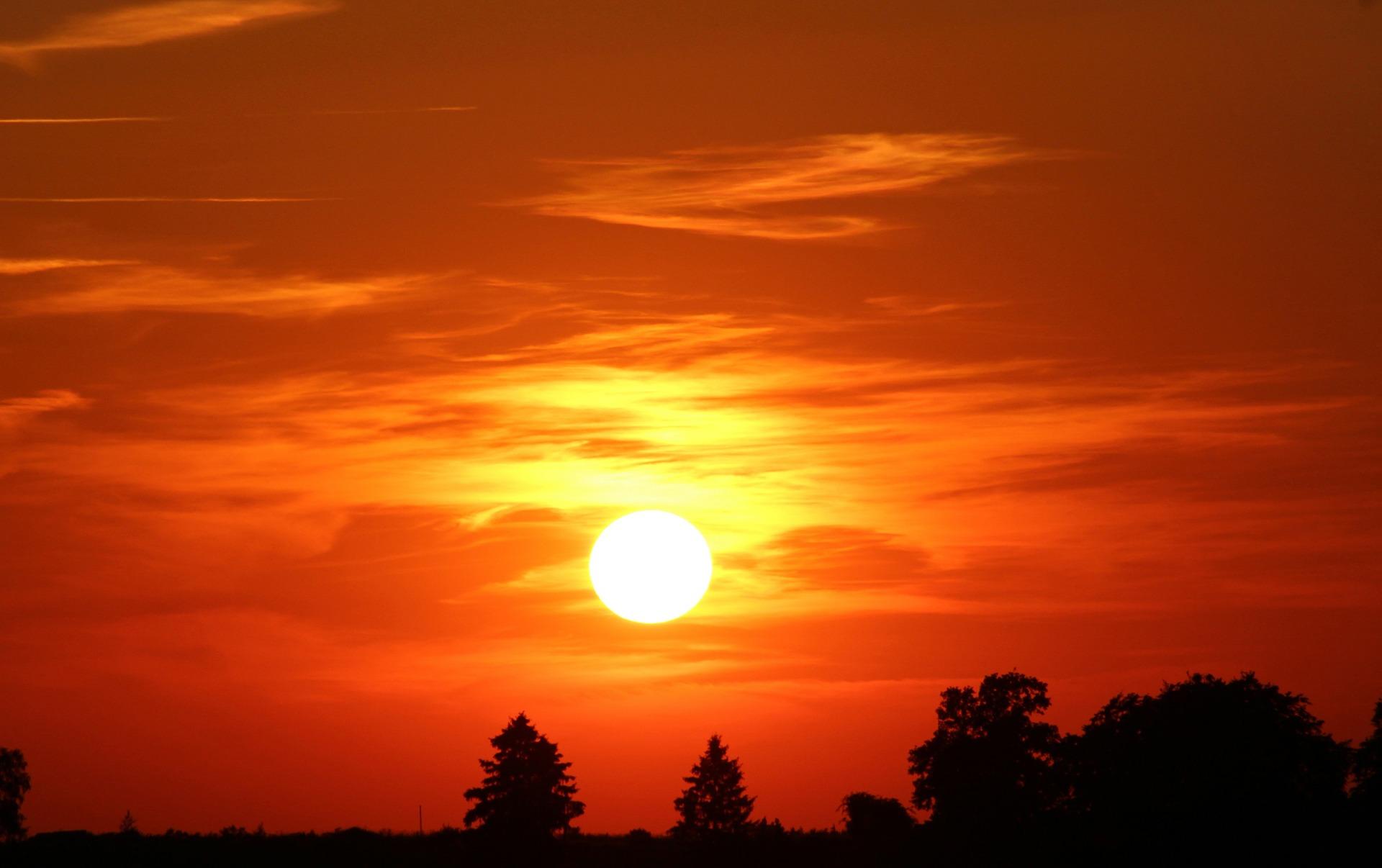 pôr do sol - outono
