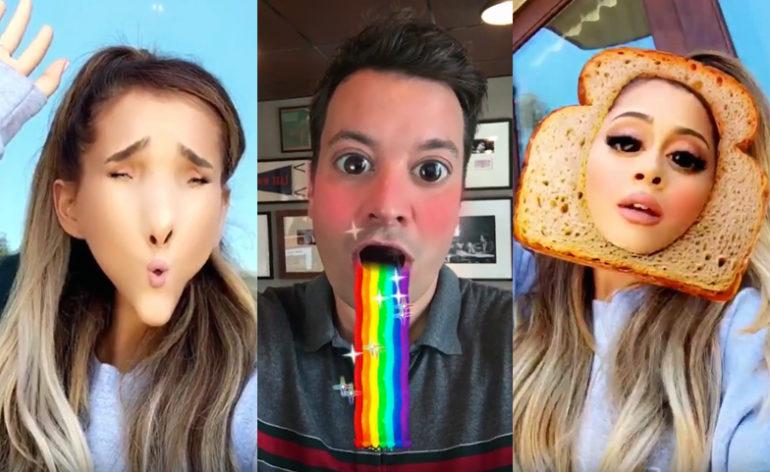 Ariana Grande e Jimmy Fallon - Snapchat Duet