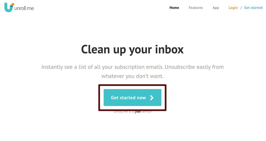 remover inscrições de e-mail