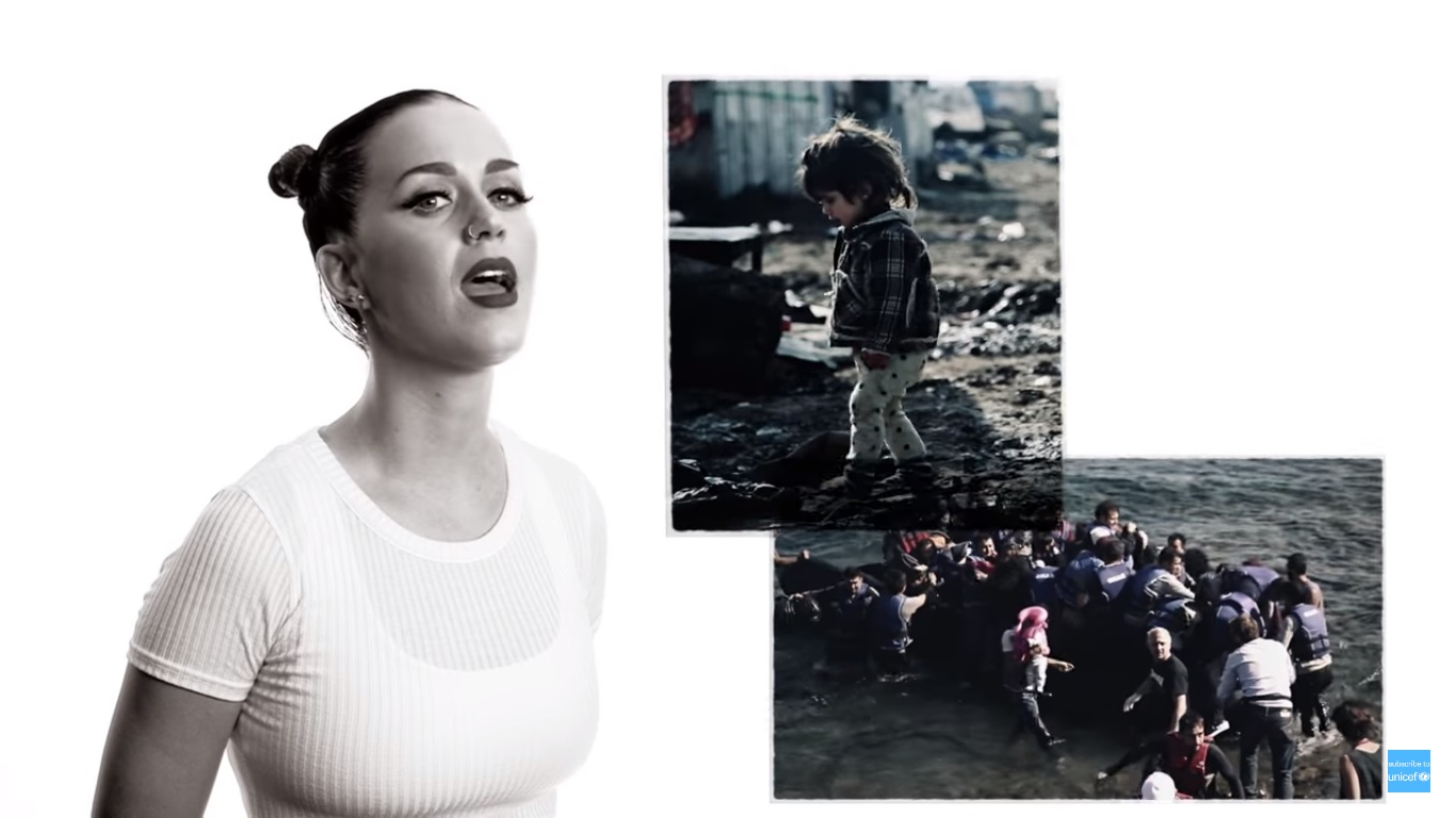 "Shakira, Katy Perry, Will.I.Am cantam ""Imagine"" para campanha da UNICEF"