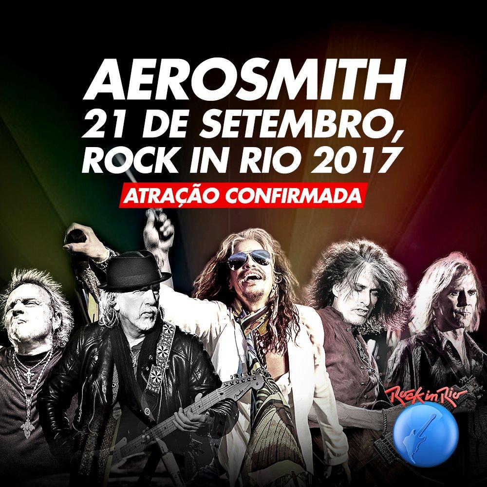 Aerosmith é mais um nome confirmado Rock In Rio 2017