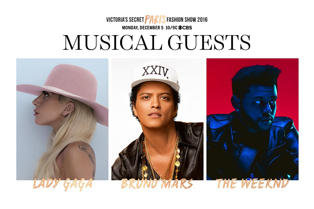 Victoria's Secret Fashion Show Lady Gaga Bruno Mars The Weeknd