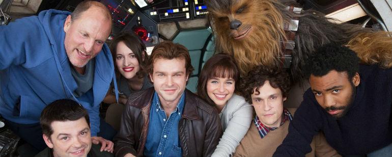 Elenco do filme sobre Han Solo com os diretores originais