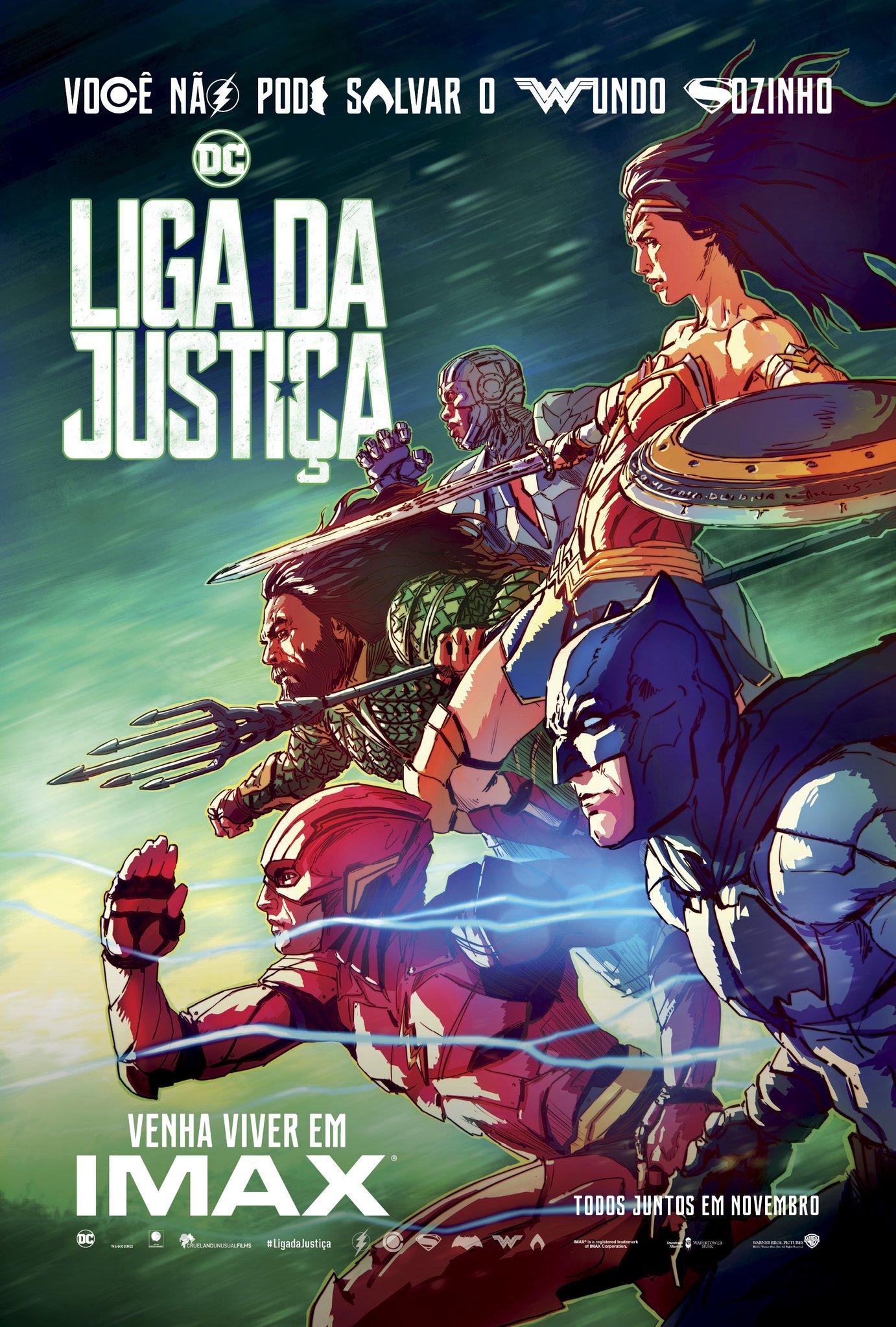 Poster IMAX de Liga da Justiça