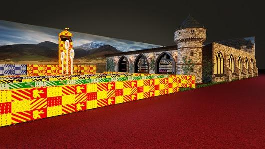 Projeto 3D de como será a Loja Harry Potter na CCXP 2017  Foto: Divulgação