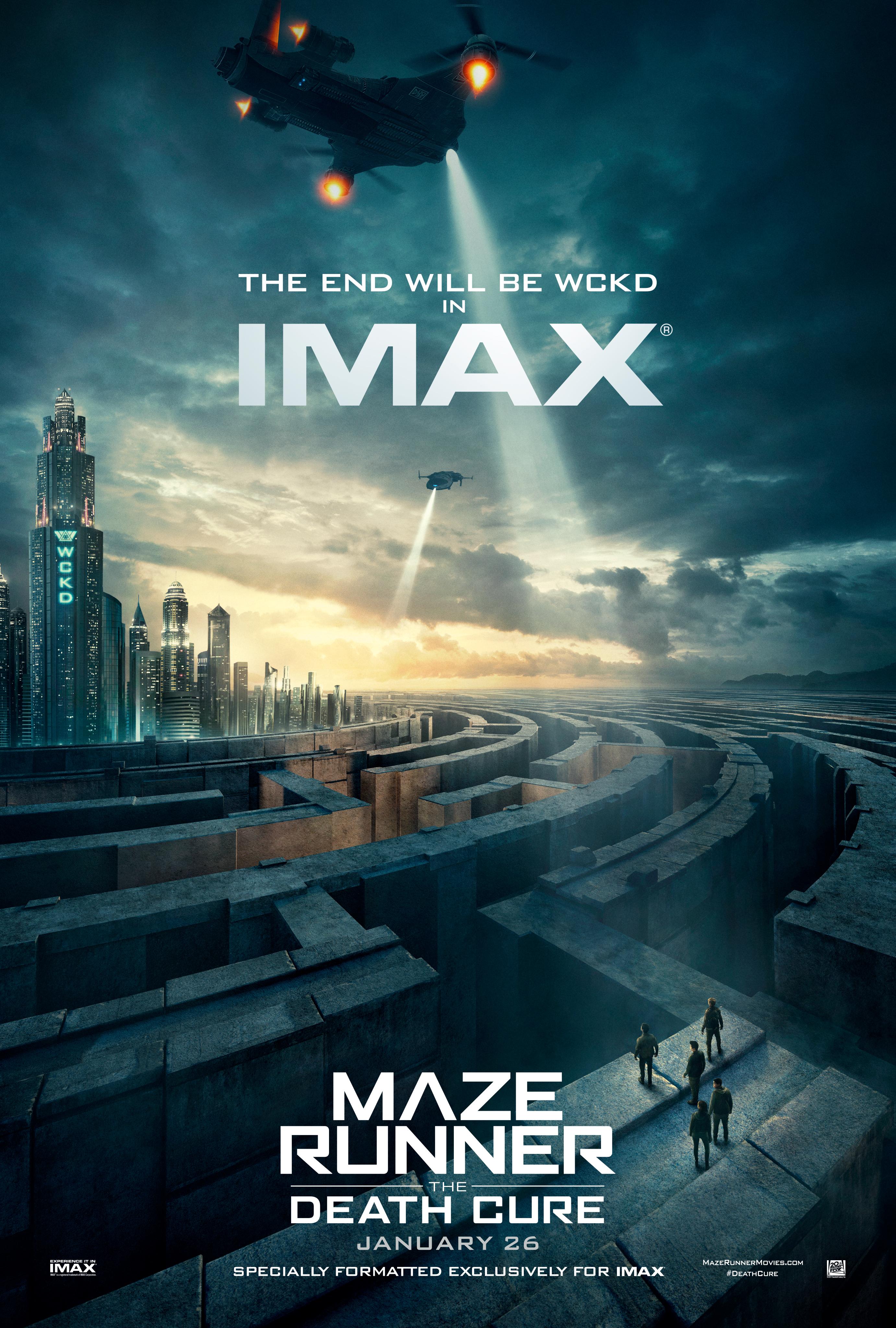 Poster IMAX de Maze Runner - A Cura Mortal