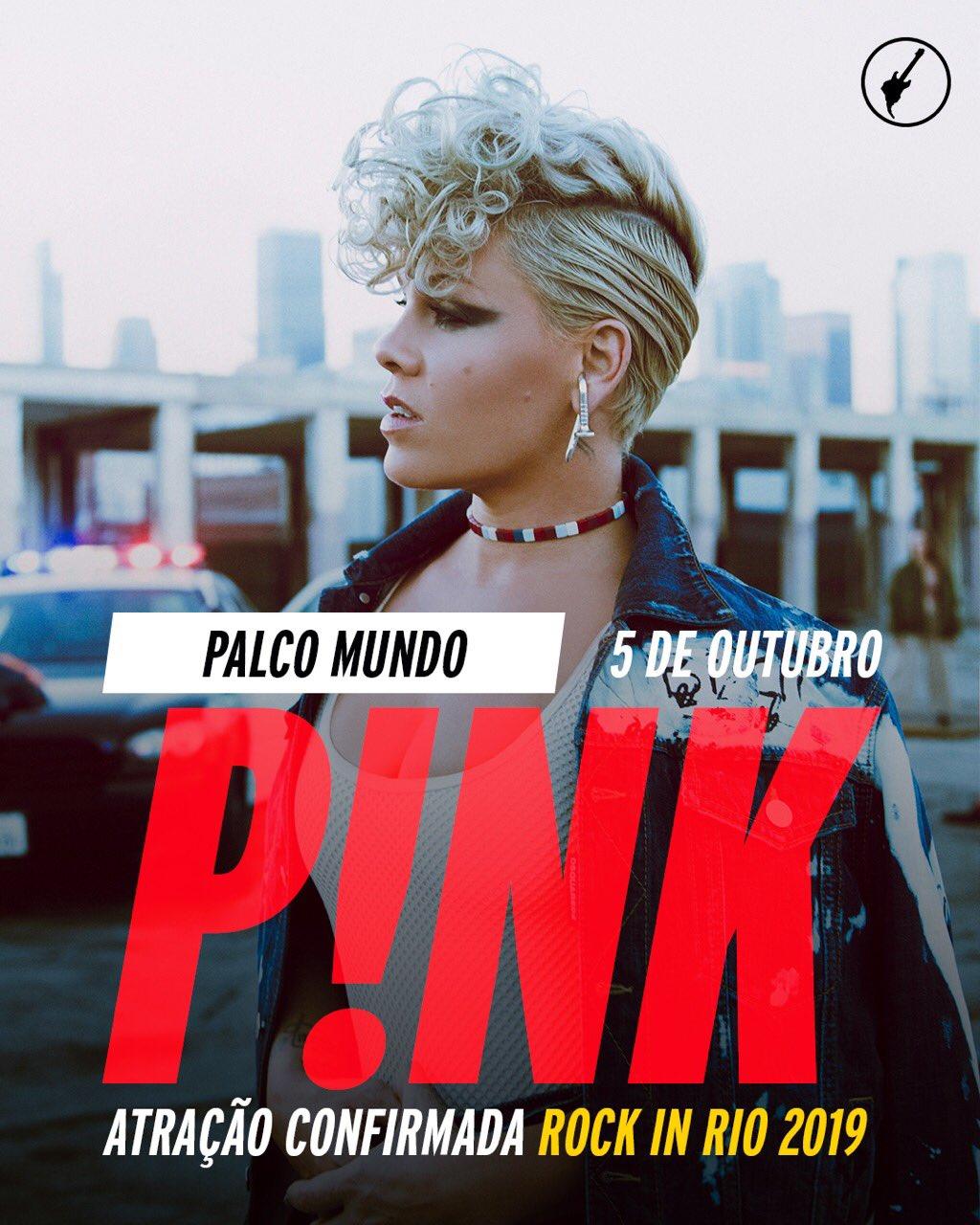 Pink e Black Eyed Peas são confirmados no Rock in Rio 2019