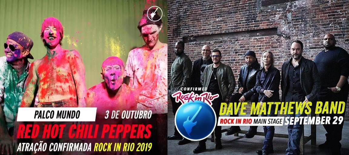 Red Hot Chili Peppers e Dave Matthews Band são confirmados no Rock in Rio 2019
