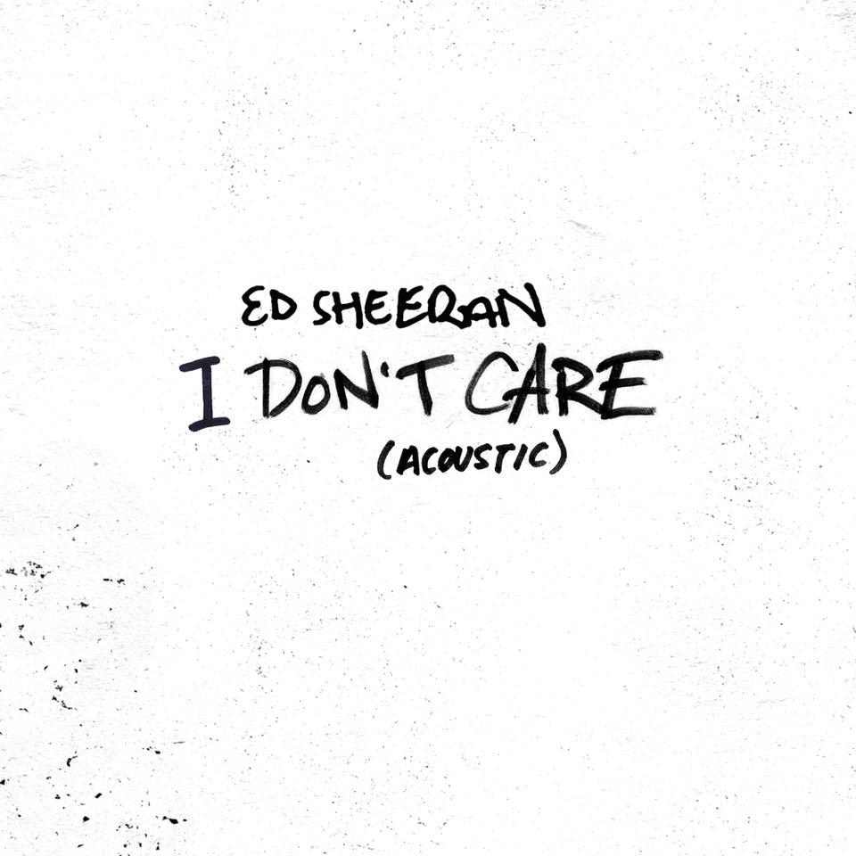 Ed Sheeran lança versão acústica de I Don't Care; ouça