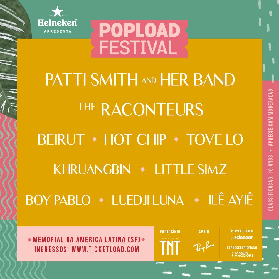 Tove Lo e Boy Pablo completam lineup do Popload Festival 2019
