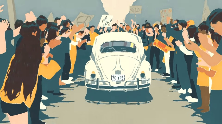 Em vídeo, Volkswagen se despede do Fusca ao som de Beatles
