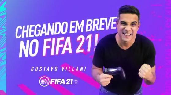 Tchau, Tiago! Gustavo Villani será o novo narrador do FIFA 21