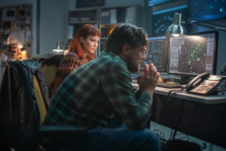 """Netflix divulga teaser de """"Não Olhe Para Cima"""", com DiCaprio e Jennifer Lawrence"""